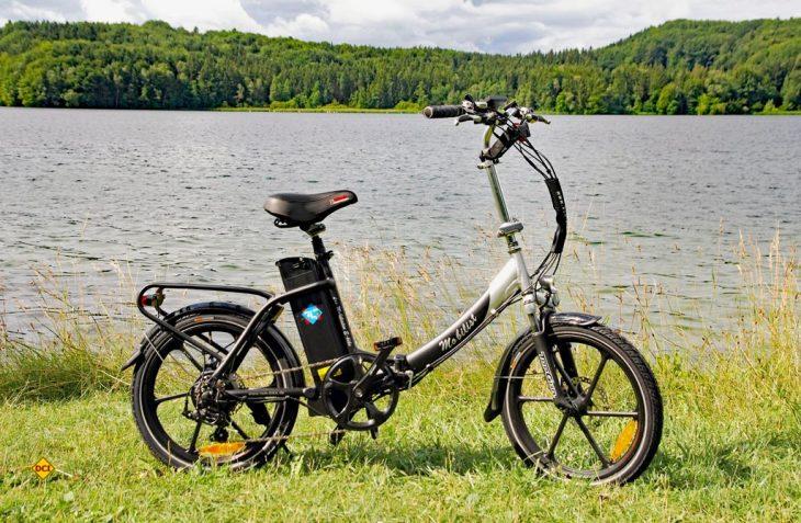 Elektrischer Brötchenkorb: Das RSM Mobilist E-Bike ist faltbar und kann mit guter Qualität und bemerkenswertem Preis-Leistungsverhältnis punkten. (Foto: alf)
