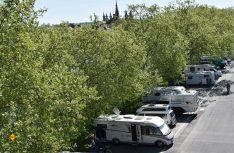 30 Mobile finden auf dem neuen Stellplatz an der Friedensbrücke in Würzburg Platz. (Foto: WVV Würzburg)