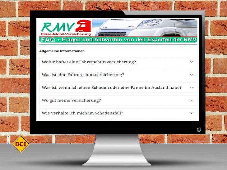Um die richtige Versicherung für sein geliebtes Wohnmobil zu finden, hilft es, wenn man sich im Vorfeld die relevanten Informationen einholt. Die Experten der RMV geben in dieser FAQ-Liste Antworten auf die Fragen der D.C.I.-Leser. (Foto: 27707 / pixabay.com; Montage: tom)
