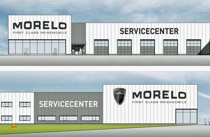 Der Entwurf: So wird das neue Morelo-Servicecenter in Schlüsselfeld aussehen. (Grafik: Morelo)