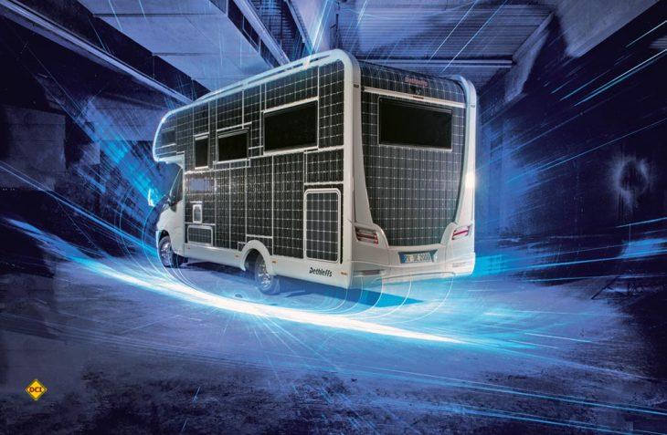 Bei den leichten Transportern und in der Caravaningbranche sieht es bis auf eine Studie von Dethleffs mau aus in Sachen E-Mobilität. (Foto: Dethleffs)