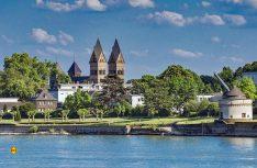 Eine Raumtour: Der Rhein von der Quelle bis zur Mündung. Hier der Reisemobil-Stellplatz in Andernach. (Foto: Andernach Tourismus)