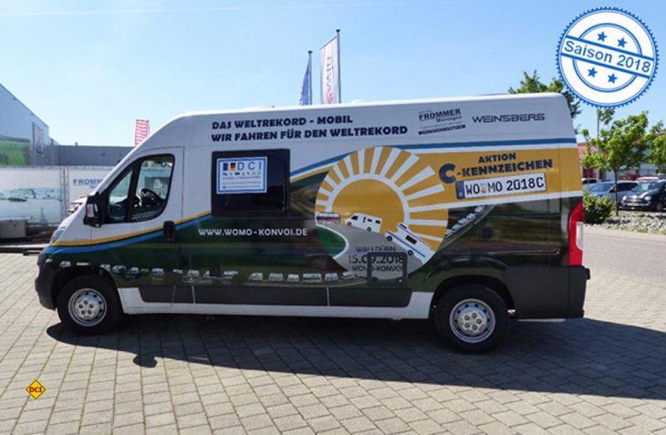 Ab sofort ist dank der Unterstützung von Knaus Tabbert das Kampagnenfahrzeug für den Womo-Konvoi und das C-Kennzeichen in ganz Deutschland unterwegs. (Foto: Womo-Konvoi)