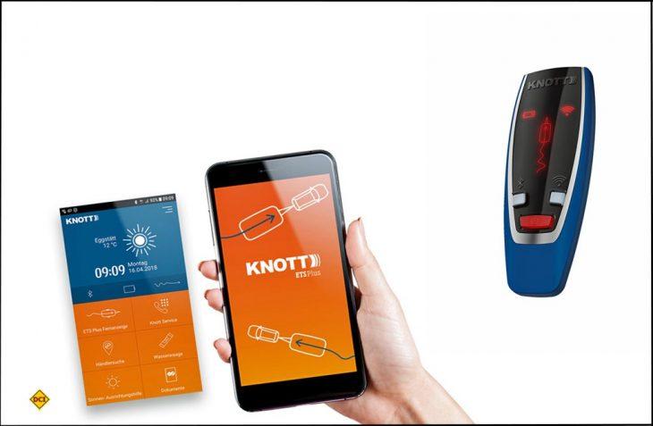 Für das Plus an Sicherheit sorgen die Fernanzeige und die Knott-App mit allen verfügbar Fahrzeuginformationen. (Foto: Knott)
