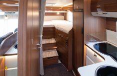 Der Heckbereich mit zwei komfortablen Einzelbetten im LMC Comfort I 675 G. (Foto: Werk)