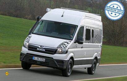 MAN hat mit dem leichten Transporter TGE eine ideale Basis für den Reisemobilbereich im Angebot. (Foto: MAN)