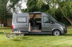 Der neue, edel ausgestattete Reimo Van Starcamper auf VW Crafter hatte auf dem Caravan Salon 2018 Premiere. (Foto: Reimo)