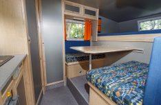 Der Wohnraum der Bimobil Pik-Up Kabine Husky 240. (Foto: VWN)