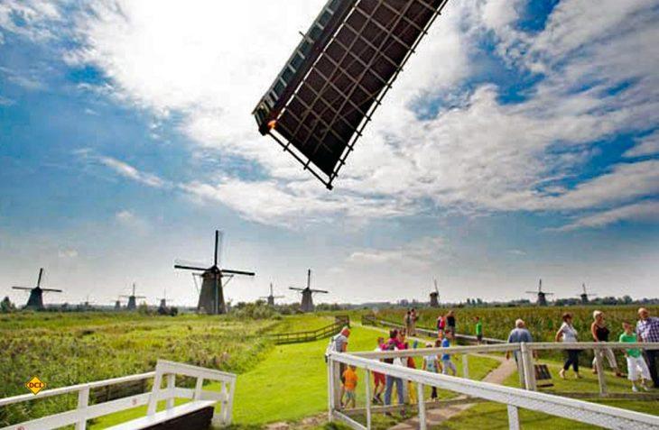 1.000 Jahre Kampf mit dem Wasser in den Niederlanden: Die die Windmühlen von Kinderdijk bei Dordrecht zeugen eindrucksvoll davon. (Foto: NBTC)