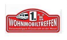 Aufkleber Wohnmobil-Treffen 2018 in Klüsserath an der Mosel.