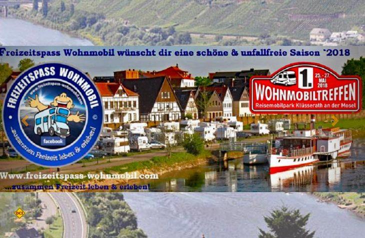 Die Facebook-Gruppe Freizeitspass Wohnmobil veranstaltet am Reisemobil-Stellplatz Klüsserath das 1. Wohnmobil-Treffen in Klüsserath an der Mosel. (Foto: Freizeitspass Wohnmobil)