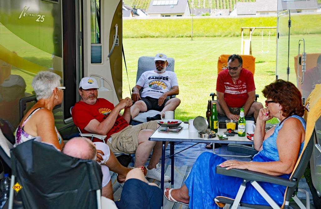 In entspannter Atmosphäre tagte das Konvoi-Orga-Team, um den Konvoi Walldürn weiter vorzubereiten. (Foto: det)