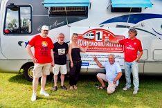 Die Facebook-Gruppen Admins und Ansprechpartner sowie Dieter Goldschmitt (links) vom Womo-Konvoi. (Foto: det)