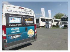 Das Kampagnenfahrzeug wird auf vielen Treffen und Campingplätze zu sehen sein und für die Aktionen werben. (Foto: Konvoi/bmg)