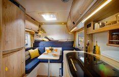 Der Innenraum der Tischer-Kabinen ist funktional und bietet alles, was zum mobilen Reisen gehört. (Foto: Werk)