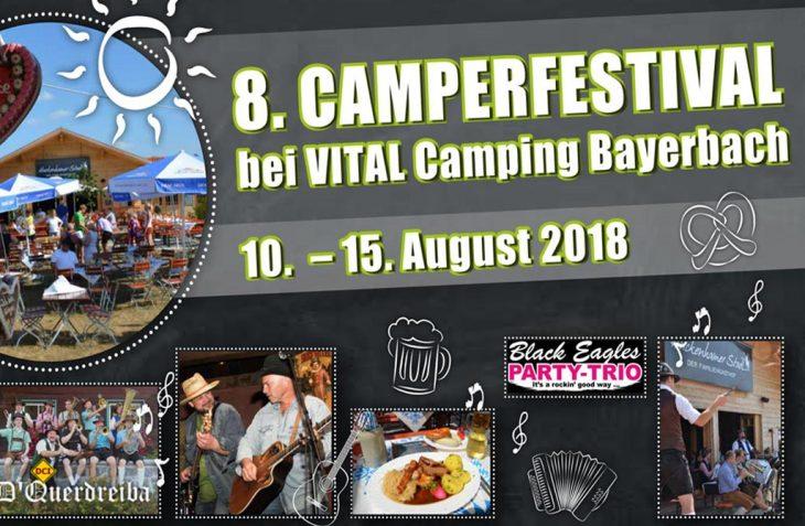 Zum achten Mal findet auf dem Vital Camping Bayerbach in Bad Birnbach das Camperfestival mit tollem Programm statt. (Foto: Vital Camping Bayerbach)