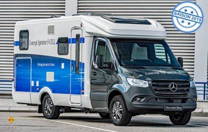 Alternative zum herkömmlichen Antrieb: Mercedes-Benz Vans präsentiert ein Reisemobil auf dem Sprinter mit Elektroantrieb und Brennstoffzelle. (Foto: Mercedes-Benz)
