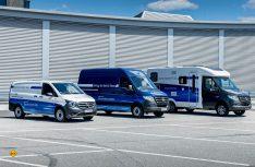 Mercedes-Benz Vans präsentiert Sprinter und Vito mit Elektroantrieb und Brennstoffzelle. (Foto: Mercedes-Benz)