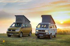 30 Jahre VW California: Mit dem T3 California begann 1988 die Erfolgsgeschichte des VW Campingbus. (Foto: VWN)