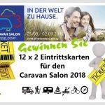 12 x 2 Eintrittskarten für den Caravan Salon 2018 gewinnen – Besuchen Sie die größte Messe für Reisemobile und Caravans