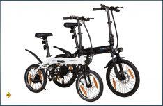 Clara 290 und Carlson 390 heißen die neuen Klapp-E-Bikes von Blaupunkt. (Foto: Blaupunkt)