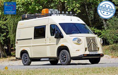 Aus dem Pössl Roadcamp R wird ein kultiges Retro-Womo im Stil des Type H-Transporters von Citroën. (Foto: Citroën)