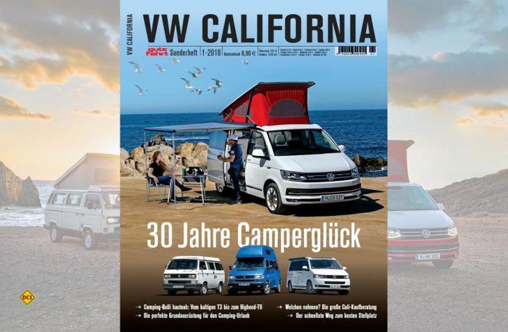 Hommage an ein Kultmobil: In einem Gute-Fahrt-Sonderheft werden die 30 Erfolgsjahre des VW California gefeiert. (Foto: Delius Klasing)