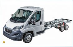 Das neue L6-Hochrahmenfahrgestell als Tandemachser. (Foto: Fiat Professional)