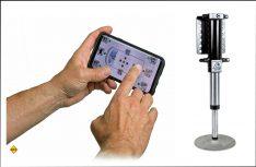 Mit optisch ansprechendem Bedienpanel und Fernbedienung per App gehört das Linnepe QuickLift Hydraulik-System zu den modernsten Hubstützenanlagen auf dem Markt. (Foto: Linnepe)