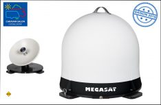 Die neue SAT-Antenne Campingman Portable Eco von Megasat benötigt weder Stromkabel noch Steuergerät. (Foto: Megasat)