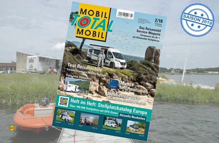 Mobil Total, Europas größter Stellplatz-Katalog ist jetzt wieder in der top-aktuellen Version im Handel. (Foto: Mobil Total)