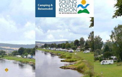 18 interessante und naturnahe Camping- und Stellplätze im Weserbergland sind in der aktuellen Broschüre aufgelistet. (Foto: SVR Solling-Vogler-Region)