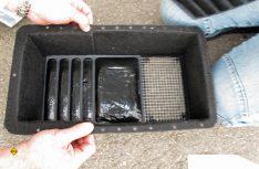 So sieht der Ausblaskanal von innen aus. Auch hier sind die Luftöffnungen mit Gitter gesichert. (Foto: has)