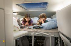 Das Hochbett für die Kinder im neuen Grand California. (Foto: VWN)