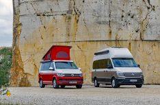 Erfolgreiches Duo: Die California-Familie wird mit dem Grand California um Reisemobil in der Sechs-Meter-Klasse erweitert. (Foto: VWN)