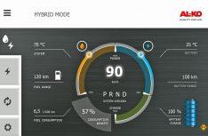 """Der Fahrmodus """"Hybrid Mode"""" kombiniert den E-Drive mit dem Verbrennungsmotor des Fahrzeugs und sorgt somit für mehr Effizienz. Zudem können Fahrzeugaufbauten können mit Energie versorgt werden. (Foto: Al-Ko)"""