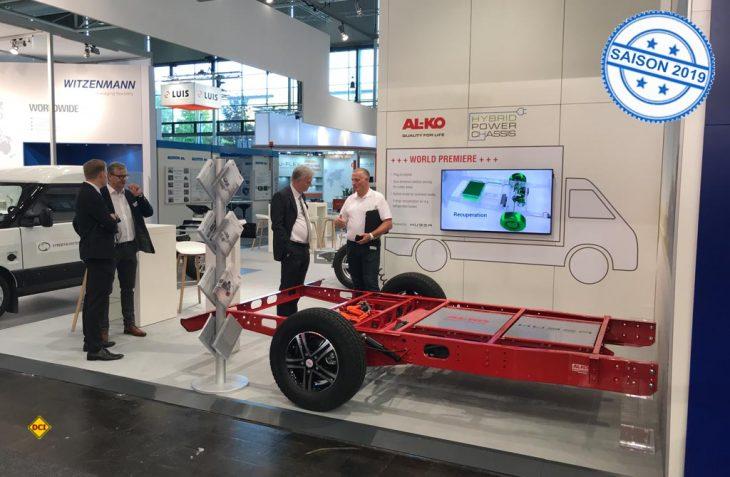 Basis des Al-Ko Hybrid Power Chassis ist das variable amc- Leichtbau-Chassis, das als Systemträger einen modularen Einsatz der Batteriepakete und Komponenten ermöglicht. (Foto: Hans Posthumus / Al-Ko)