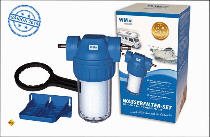 """WM aquatec präsentiert ein brandneues Wasserfilter-Set aus der """"Mobile Edition"""" für Wohnmobile, Caravans und Boote. (Foto: WM aquatec)"""