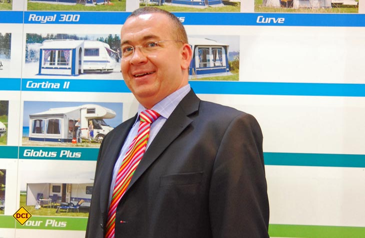 dwt-Chef Claus Winneknecht setzt bei Vorzelten auf moderne Luft-Technik, Qualität, Kundenservice und nachhaltige Produktion. (Foto: det)