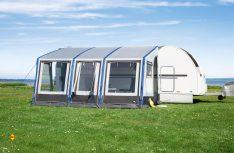 Moderne Technik auch bei Caravan-Vorzelten von dwt: Das Caravan-Vorzelt Space air. (Foto: Werk)