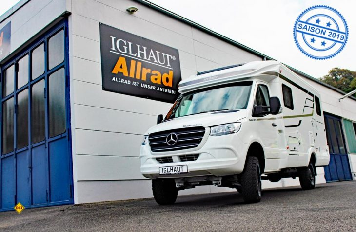 Iglhaut-Allrad und das Hymer-Zentrum Sulzemoos zeigen eine Weltpremiere: Neuer Mercedes Sprinter mit Allrad und Hymer-Aufbau. (Foto: Iglhaut)