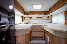 Hoher Schlafkomfort im Malibu T 430: Die Einzelbetten im Heck. Foto: det)