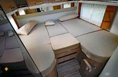 Die Einzelbetten können mit einem - nicht optimalen - Auszugsteil zur Liegewiese erweitert werden. (Foto: det)
