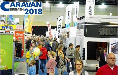 Über 70 Händler und Hersteller mit vielen bekannten Marken sind auf der Messe Caravan Bremen 2018 vertreten. (Foto: Heckmann)