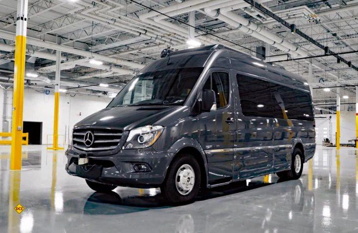 Die Erwin Hymer Group Nordamerika darf als weltweit erster Hersteller autonome Reisemobile im öffentlichen Verkehr testen. (Foto: EHG)