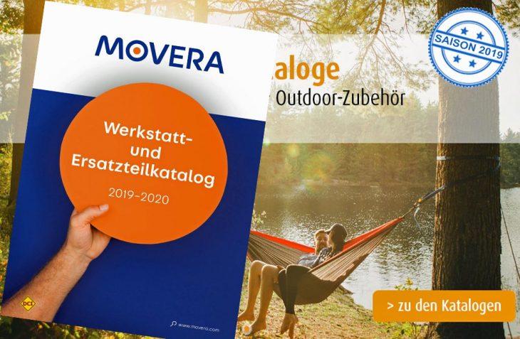 Mit dem neuen Werkstatt- und Ersatzteilkatalog 2019-2020 von Movera sind Reiselustige und Abenteurer bestens vorbereitet. (Foto: Movera)
