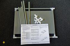 Die einzelnen Elemente werden ohne Werkzeug mit einfachen Steckverbindern zusammengesteckt. (Foto: det)