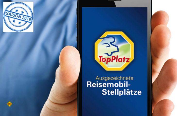 Infos zu TopPlatz Reisemobil-Stellplätze einfach und schnell per Smartphone oder Tablet: Die neue TopPlatz-App macht´s möglich. (Foto: TopPlatz)