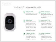 Auf der Webseite von arlo.com werden die Eigenschaften der Kamera übersichtlich präsentiert. (screenshot: Werk)