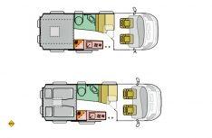 Grundriss Adria Twin Supreme 640 SGX. (Grafik: Werk)